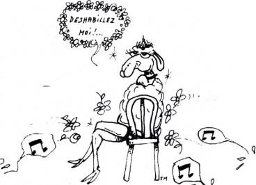 Illustration tonte de chèvres angora